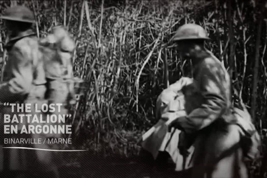 """© Pathé Gaumont/""""History and rhymes of the lost battalion"""", Buck Private Mac Collum"""