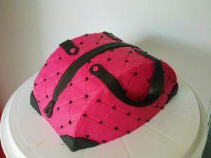 Gâteau sac à main rose fuchsia