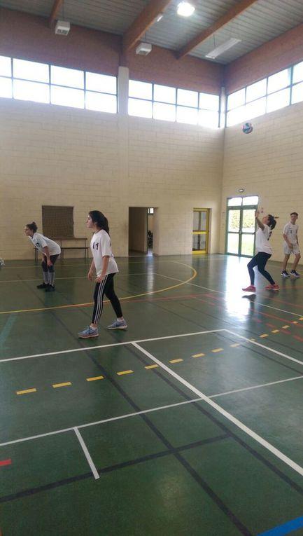 Des volleyeuses en demi-finale académique!!