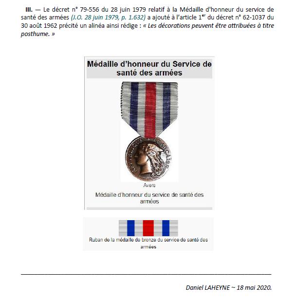Un souvenir bien français à travers les médailles.