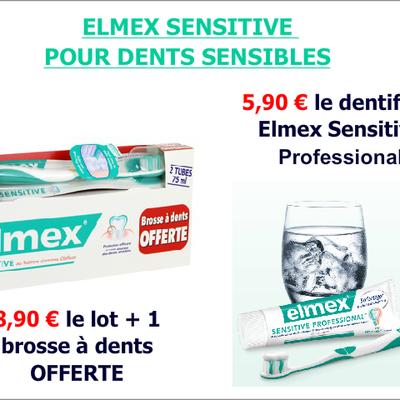 Promotions sur les dentifrices ELMEX SENSITIVE
