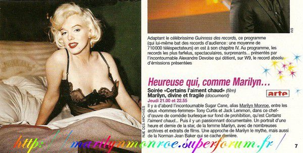 Heureuse qui, comme Marilyn...