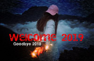 Goodbye 2018 - Welcome 2019 - Femme - Mer - Vagues - Wallpaper - Free
