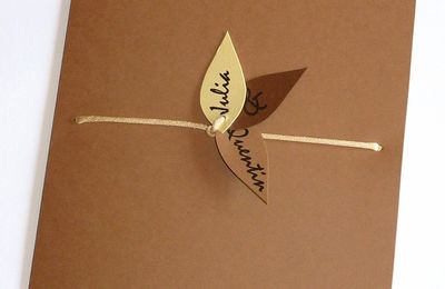 Faire-part de mariage cacao, chocolat et crème, thème nature...