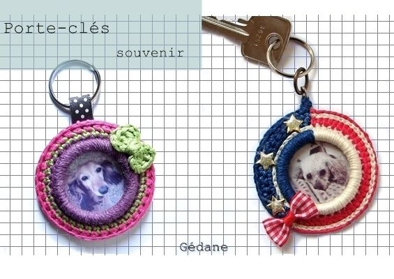 DIY porte-clés photo au crochet