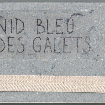 NID BLEU DES GALETS (livre d'artiste; ROUX/NEZAN) et En deça ( livre; NEZAN.) 2019.