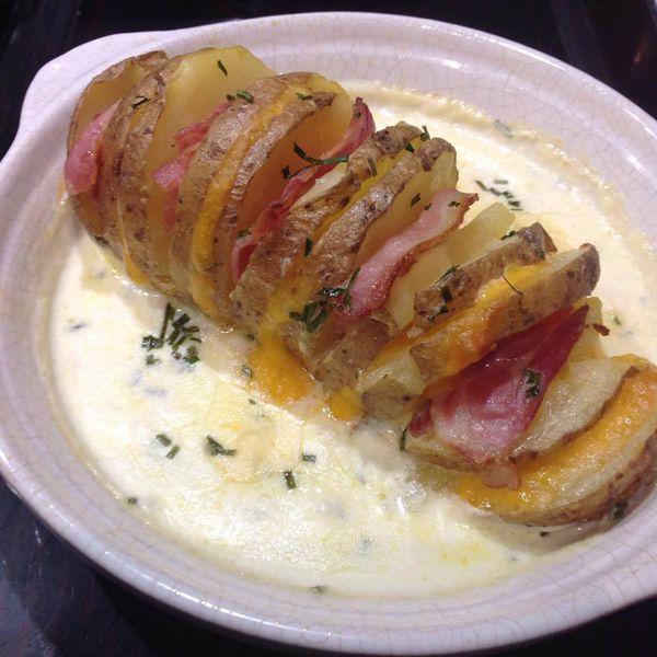 pomme de terre au fromage et au bacon