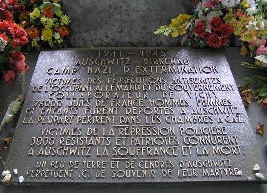 """Mémoire de la déportation: Les monuments du Cimetière du """"Père Lachaise"""" (1/2)"""