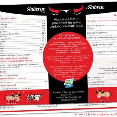 Sets de table jetables : Une bonne idée d'accès au menu du restaurant