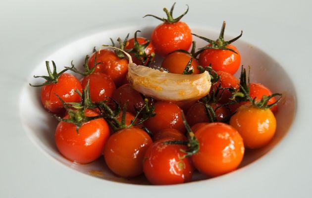 Tomates cerises roties au thym