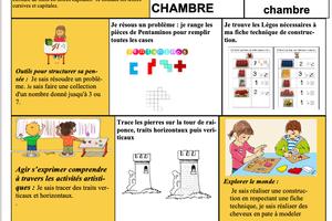 Fiche autonomie lego et Raiponce + vocabulaire Chichami sem28 prep 2017/2018 chez Angéline