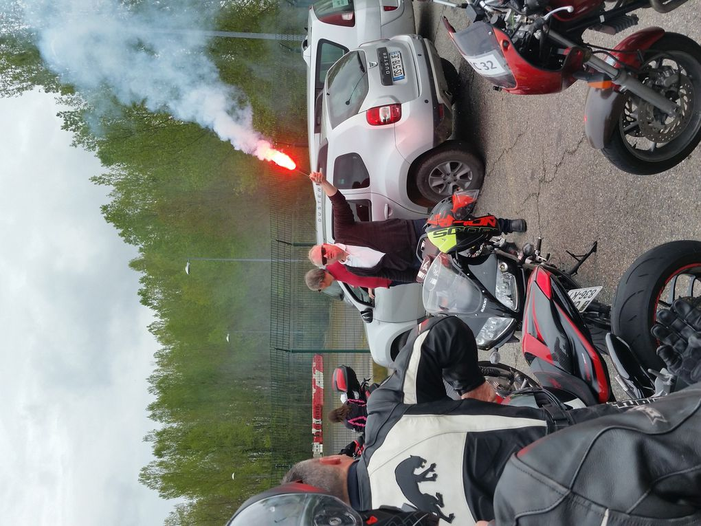 Manifestation des motards à Toulouse