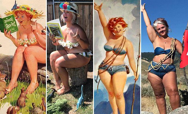 Pin-up shots in body-positive shoot