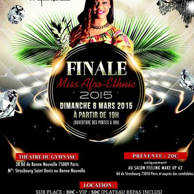 Miss AFRO-ETHNIC FRANCE 2015