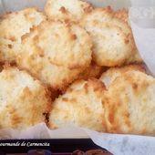 Biscuits aux blancs d'oeuf à la noix de coco - Cuisine gourmande de Carmencita