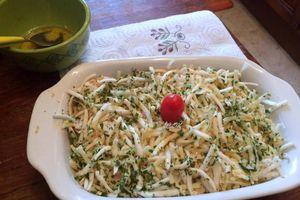 Salade de céleri bien épicée