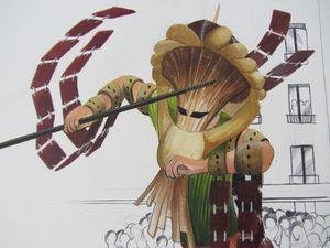 Concept design sur un costume de guerrier Maure (théâtre de rue/ dessin d'animation/film historique)