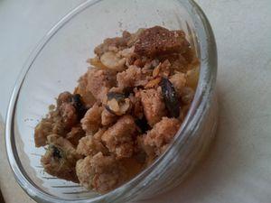 Crumble aux épices et aux graines - Rochers de flocons d'avoine au parmesan.