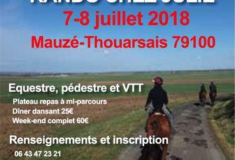 Randos à Mauzé-Thouarsais (79) les 7et8 juillet 2018