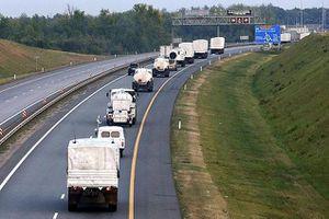 LaPresse.ca - Ukraine: les camions du convoi humanitaire russe retournent au bercail
