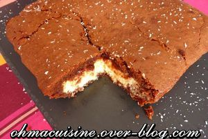 Brownie black and white (chocolat et coco)