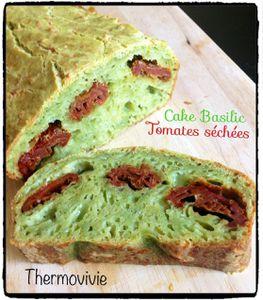 Cake au basilic et tomates séchées réalisé au thermomix
