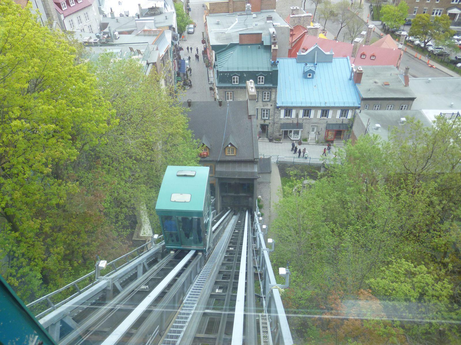 Visite de la ville de Québec sur le Saint Laurent