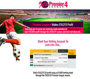 Premier League 4 Football Betting Service Review