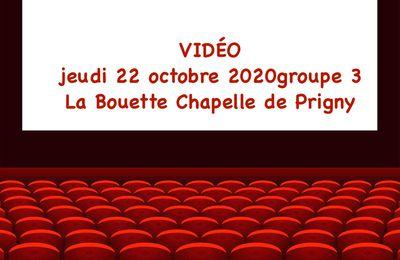 VIDÉO GROUPE 3. JEUDI 22 OCTOBRE 2020