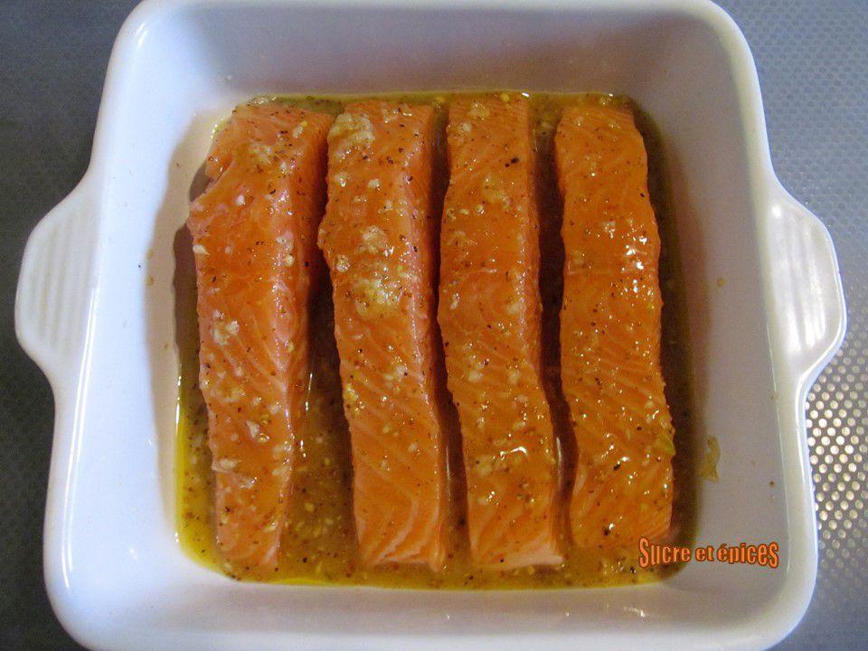 Saumon au four au miel et à la moutarde - Recette facile en vidéo