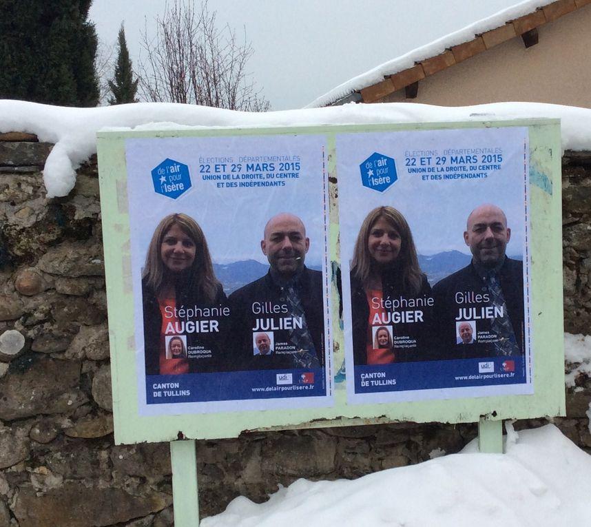 Stéphanie AUGIER et Gilles JULIEN, candidats du Canton de TULLINS.