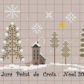 FREE : grilles du défi Noel 2019 - Jura Point de Croix