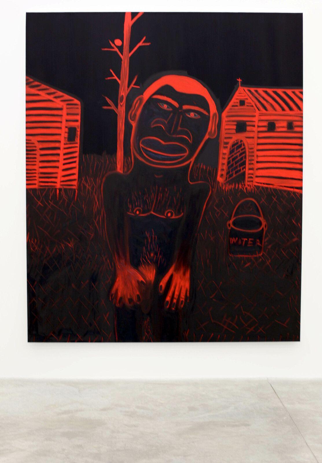 """""""Cabin fever"""", 2021 de Marcus JAHMAL - Courtesy de l'artiste et de la galerie Almine Rech © Photo Éric Simon"""
