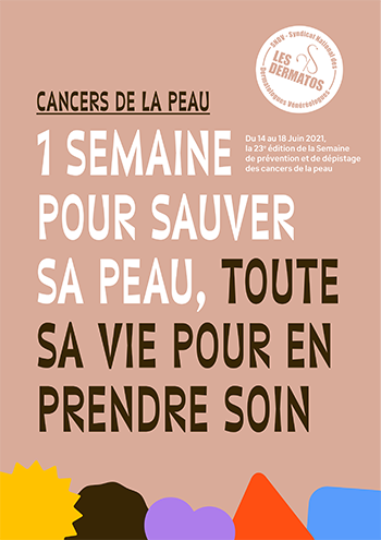 cancer peau semaine sauver affiche bernieshoot