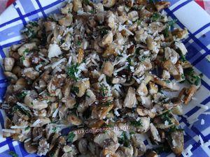 Chaussons apéritifs aux champignons et parmesan