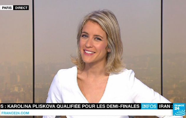 📸16 PAULINE PACCARD ce matin @FRANCE24 @France24_fr #vuesalatele