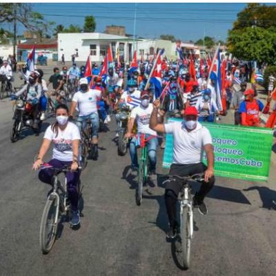 La deuxième caravane mondiale contre le blocus imposé par les États-Unis à Cuba s'est étendue à plus de 50 villes dans le monde ce week-end