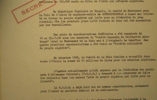 L'aide communiste à la rébellion algérienne 14/25