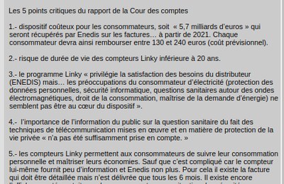 Compteur Linky. Le point fin 2019
