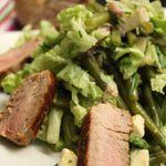 Salade de haricots verts et mignon de porc