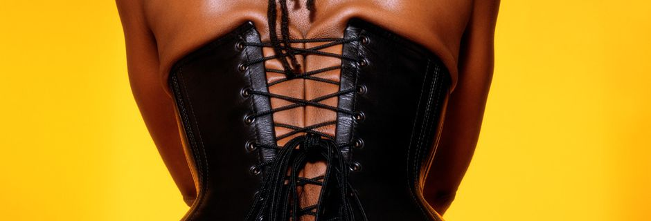 Black Leather Lace-up @ Renee Cox. 2001