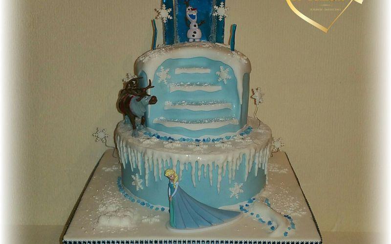 Cake design Frozen with Scrapcooking