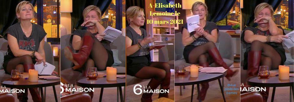 Anne-Elisabeth Lemoine le 10 mars 2021. 6 à la maison. Jambes