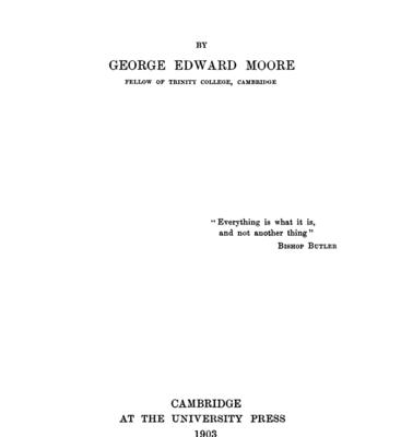 Georges Edward Moore - Principia Ethica