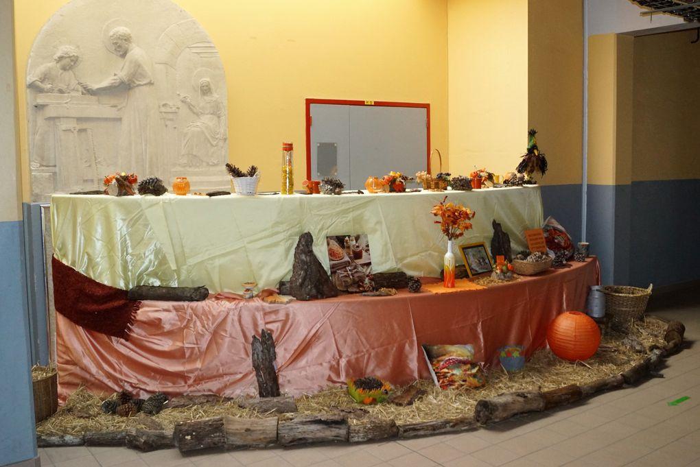 Décoration d'un espace aux ateliers du Lycée St Joseph