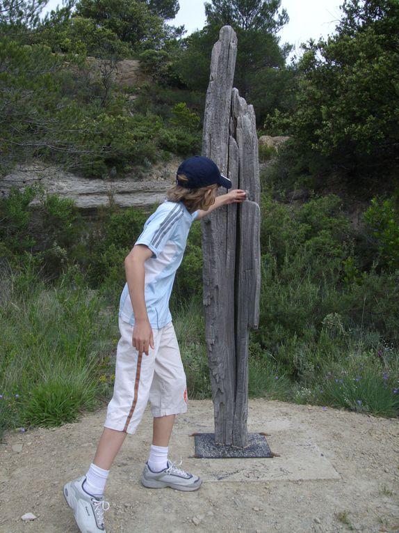 photographies des sculptures de Mayronne,mosaiques et fleurs 2011