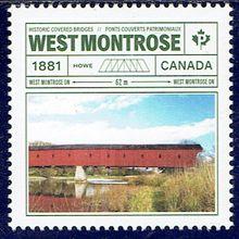 Le pont West Montrose au Canada
