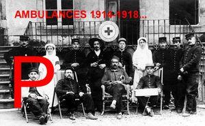 AMBULANCES 1914-1918 – Lettre P