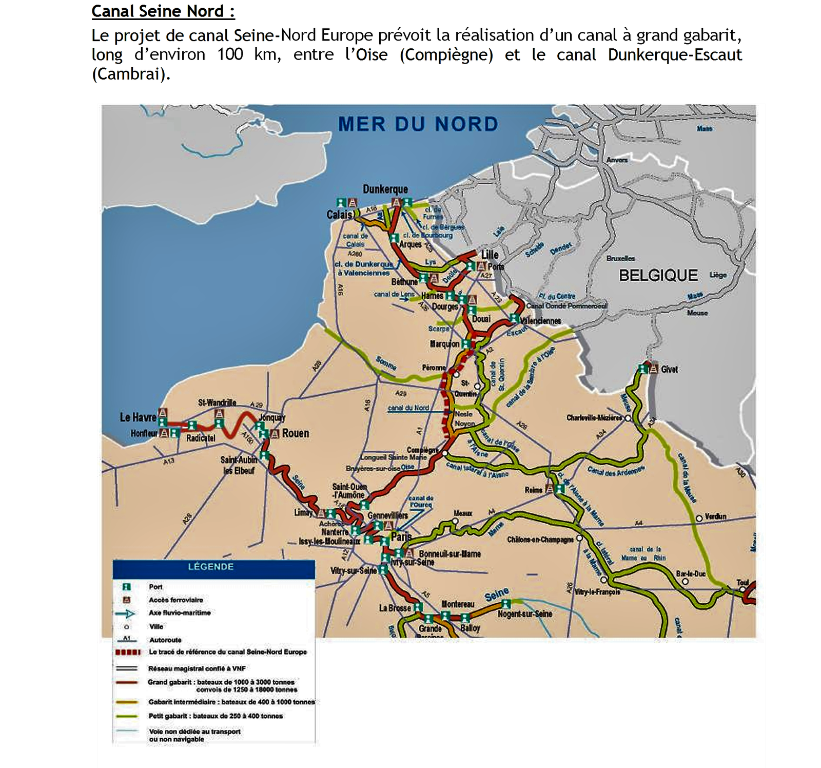 Le projet canal Seine-Nord