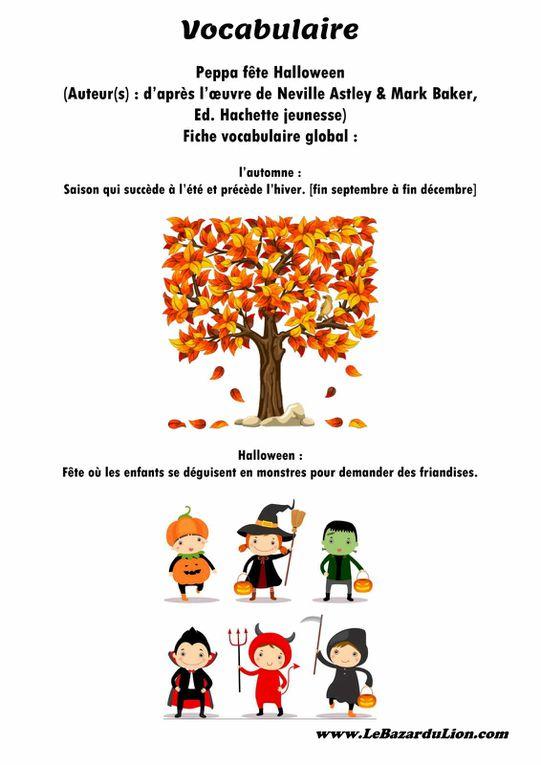 Peppa fête Halloween [Dossier Lecture][Halloween][Maternelle]